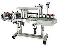 Front/Back Labeler with Wrap Station